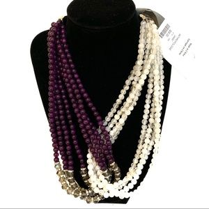 NWT Anthropologie Crossover Beaded Necklace